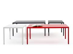 Tavolo rettangolare in metallo per contractPASSEPARTOUT | Tavolo - URBANTIME