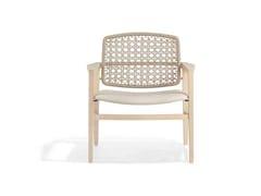 Sedia in corda con braccioli PATIO | Sedia con braccioli - Patio
