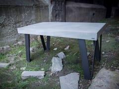 Tavolo da pranzo rettangolare in calcestruzzoPATRIAM | Tavolo - CRÉER