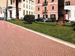 Pavimento per esterni carrabile in graniglia ventaglio donzella