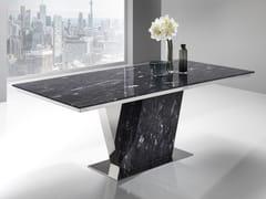 Tavolo in Crystal Stone® con inserti in acciaioPAVO - BALLARINI
