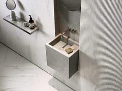 Lavabo singolo sospeso in pietra naturalePB BASIN – 40 - COCOON