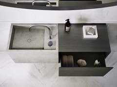 Lavabo rettangolare singolo in pietra naturalePB BASIN – 60 - COCOON