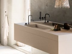 LAVABO RETTANGOLARE SINGOLO IN SOLID SURFACE COCOON PB BASIN01 - COCOON