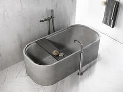 COCOON, PB BATH Vasca da bagno centro stanza ovale in pietra naturale