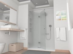 Box doccia rettangolare in vetro con porta a soffiettoPBF-PLIO - GH ITALY