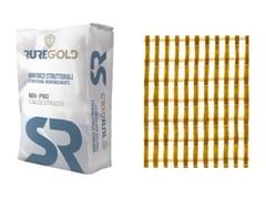 RUREGOLD, PBO-MESH 70/18 FRCM in fibra di PBO 70+18 g/m2 e matrice inorganica