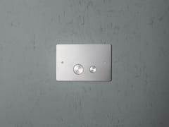 Placca di comando per wc in acciaio inoxPC001/1   Placca di comando per wc - QUADRO