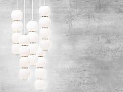 Lampada a sospensione a LED in vetro satinato PEARLS 5 -