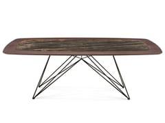 Tavolo in legno con inserto in ceramica PEGASO | Tavolo da pranzo - Pegaso