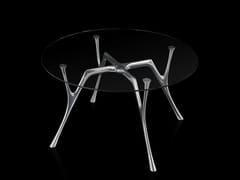 Tavolo rotondo in acciaio e vetro PEGASO | Tavolo rotondo - Pegaso