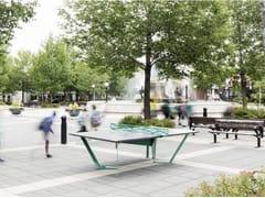 Tavolo da ping pong in acciaio Corten™PEKO - ATELIERB