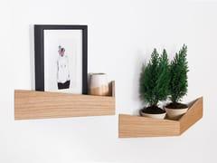 Appendiabiti / mensola in legnoPELICAN LARGE I Wooden shelf with hooks - WOODENDOT