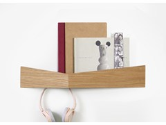 Appendiabiti / mensola in legno PELICAN LARGE I Wooden shelf with hooks -