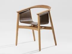 Sedia in legno massello con braccioliPELLE - ZEITRAUM