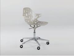 Sedia in alluminio in stile moderno a 5 razze ad altezza regolabile con ruote PELOTA DESK - Pelota