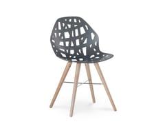 Sedia in alluminio in stile moderno PELOTA WOOD - Pelota
