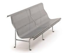 BD Barcelona Design, PERFORANO Panchina modulare in acciaio con schienale