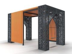 Paravento per dehors in acciaio e legnoPERGOLA - PUNTO DESIGN