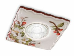 Faretto quadrato in ceramica da incassoPESCARA | Faretto quadrato - FERROLUCE