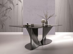 Tavolo rettangolare in vetroPETAL - NATISA