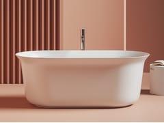 Vasca da bagno centro stanza ovale in ceramicaPETITE - ARTCERAM