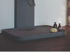 Piatto doccia rettangolare in Cementoskin®PETRA | Piatto doccia - AGAPE