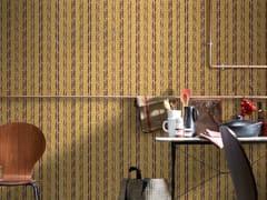 Carta da parati lavabile in tessuto non tessuto PHILIPPE MODEL X KOZIEL - YELLOW STRIPES - Philippe Model