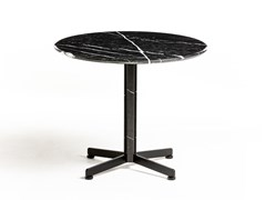 Tavolino rotondo in marmo con base a 4 razzePIANA MARBLE S - ARRMET