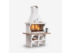 Barbecue a carbonella a legna in cementoPIANOSA - PALAZZETTI LELIO
