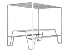 Tavolo da picnic con coperturaPICNIC IN THE SHADOW - CASSECROUTE