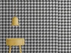 Mineheart, PIED DE POULE Carta da parati effetto muro optical in carta non tessuta
