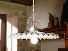 Lampada a sospensione a luce diretta e indiretta in ceramicaPIEGA   Lampada a sospensione - ALDO BERNARDI