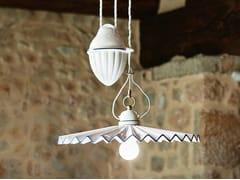 Lampada a sospensione a luce diretta e indiretta in ceramicaPIEGA | Lampada a sospensione in ceramica - ALDO BERNARDI