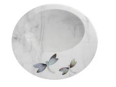 Piatto piano in marmoPIETRA DURA | Piatto - ORVI DESIGN STUDIO