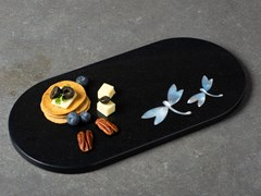 Vassoio ovale in marmoPIETRA DURA | Vassoio - ORVI DESIGN STUDIO