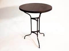 Tavolo rotondo in pino con base in ferro battutoPIGALLE - DADRA
