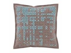 Cuscino ricamato in lana CANEVAS | Cuscino quadrato - Canevas