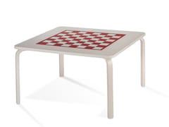 Tavolo da scacchi quadrato in betulla PIPPA | Tavolo da gioco - Pippa