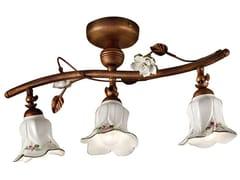 Lampada da soffitto orientabile in ceramica con braccio fissoPISA | Lampada da soffitto con braccio fisso - FERROLUCE