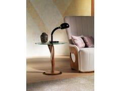 Tavolino rotondo in legno e vetroPISTILLO - CARPANELLI