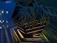 ZAVA, PITOCA Vaso da giardino luminoso in acciaio Corten™