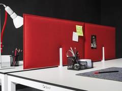 Pannello divisorio da scrivania fonoassorbente in tessutoPIUMA - GABER