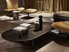 Tavolino basso ovale da salottoPLACÈ | Tavolino - BAXTER