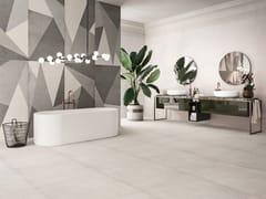Pavimento/rivestimento in gres porcellanato effetto cementoPLAIN - CERAMICHE REFIN
