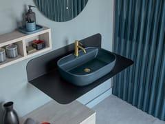 Scarabeo Ceramiche, PLANA Piano lavabo in lamiera