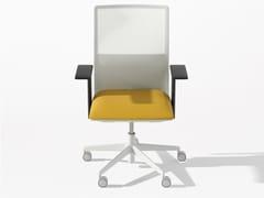 Sedia ufficio girevole in tessuto a 5 razze con ruotePLANESIT | Sedia ufficio - ARPER