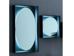 Specchio in metallo con illuminazione integrata da paretePLANETA | Specchio da parete - ADRIANI E ROSSI EDIZIONI