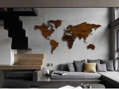Oggetto decorativo da parete in acciaio Corten™PLANISFERO CORTEN® - CARLUCCIO DESIGN