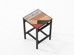 Sgabello con poggiapiedi PLANKE | Sgabello - Planke